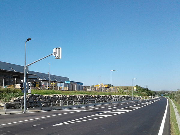 B9 Fischamend, Lower Austria, Road reconstruction
