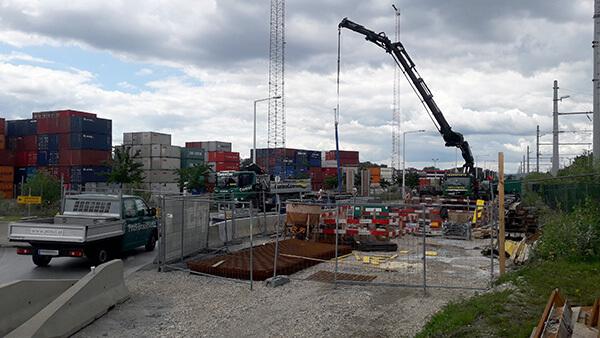 Vienna, Freudenauer Hafen, New sewer construction